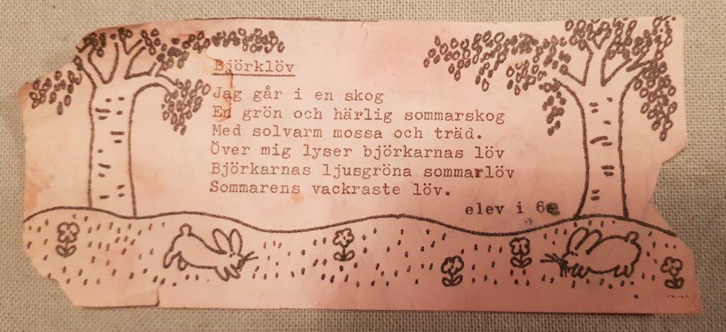 Dikt - Björklöv